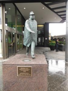 Bronze Statue in the St. Claire/Yonge area of Toronto.